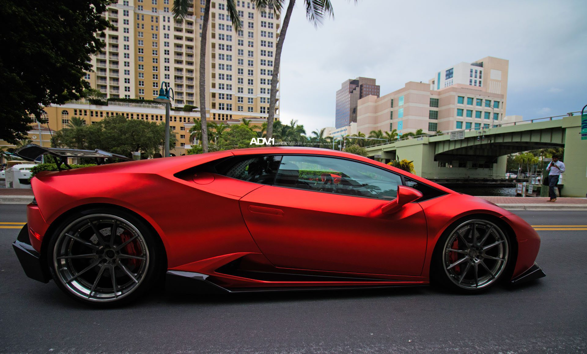 matte red lamborghini hurac n with 1016 industries kit and adv 1 wheels my. Black Bedroom Furniture Sets. Home Design Ideas