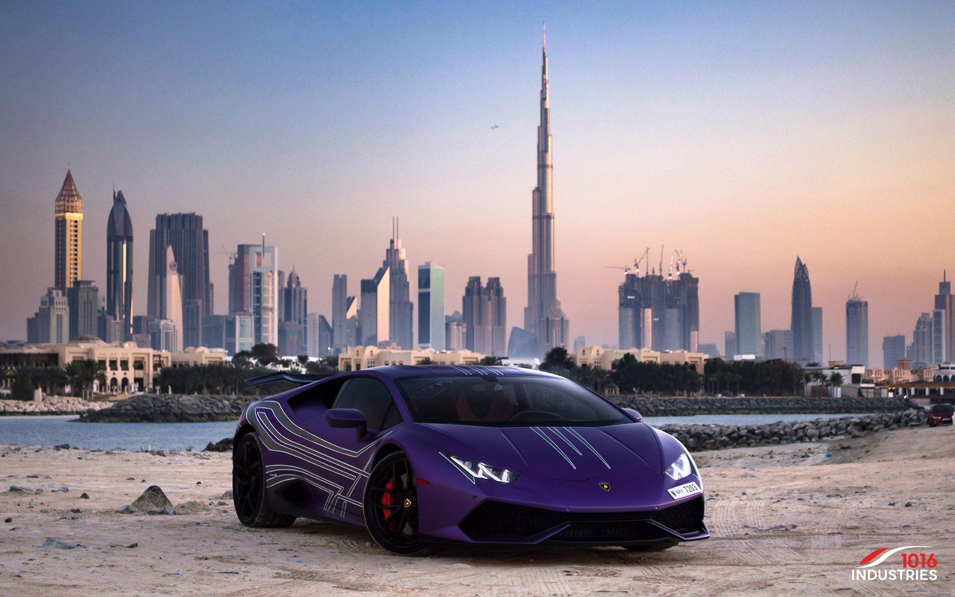 Photoshoot Matte Purple Lamborghini Huracan From Dubai My Car
