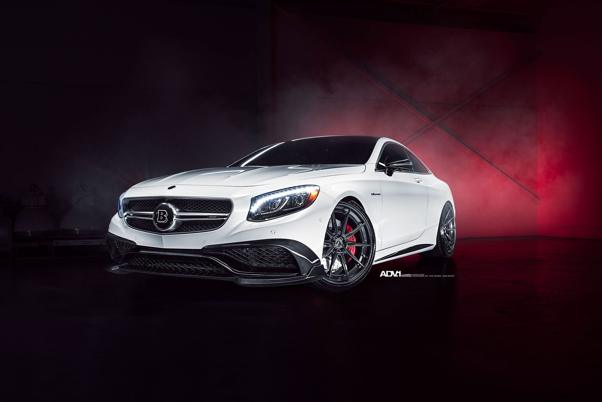 White mercedes benz s63 gets upgraded with adv 1 wheels for White mercedes benz truck