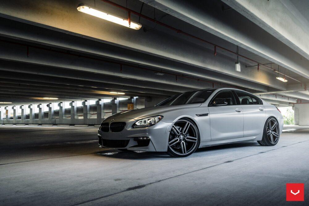 Matte Gray BMW M6 - Vossen HF-1 Wheels Wallpaper