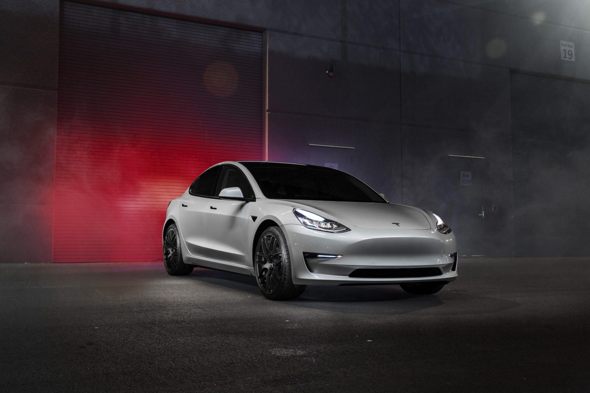 Tesla Model 3 Looking Clean On VMR V710 Matte Black Wheels ...