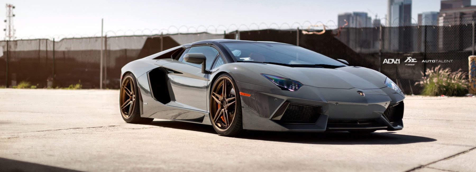 ... Nardo Gray Lamborghini Aventador Gets ADV.1 Wheels On Gray Lamborghini  Spyder, Gray Lamborghini ...
