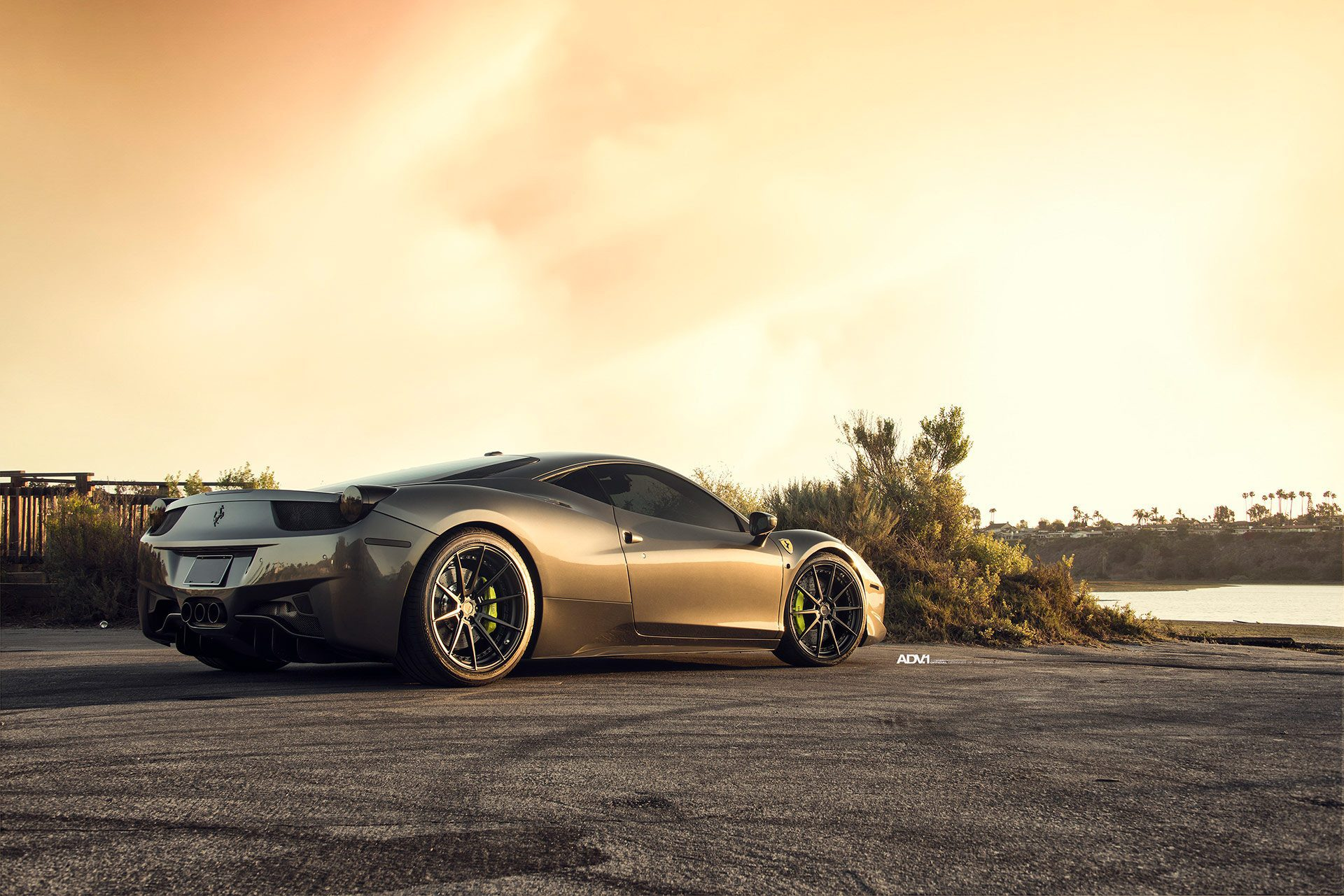 Grigio Silverstone Metallic Ferrari 458 Italia Gets ADV.1 Wheels
